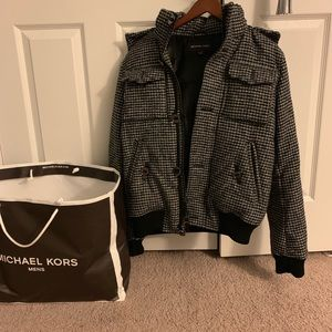 Michael Kors men's Coat Wool Croppo